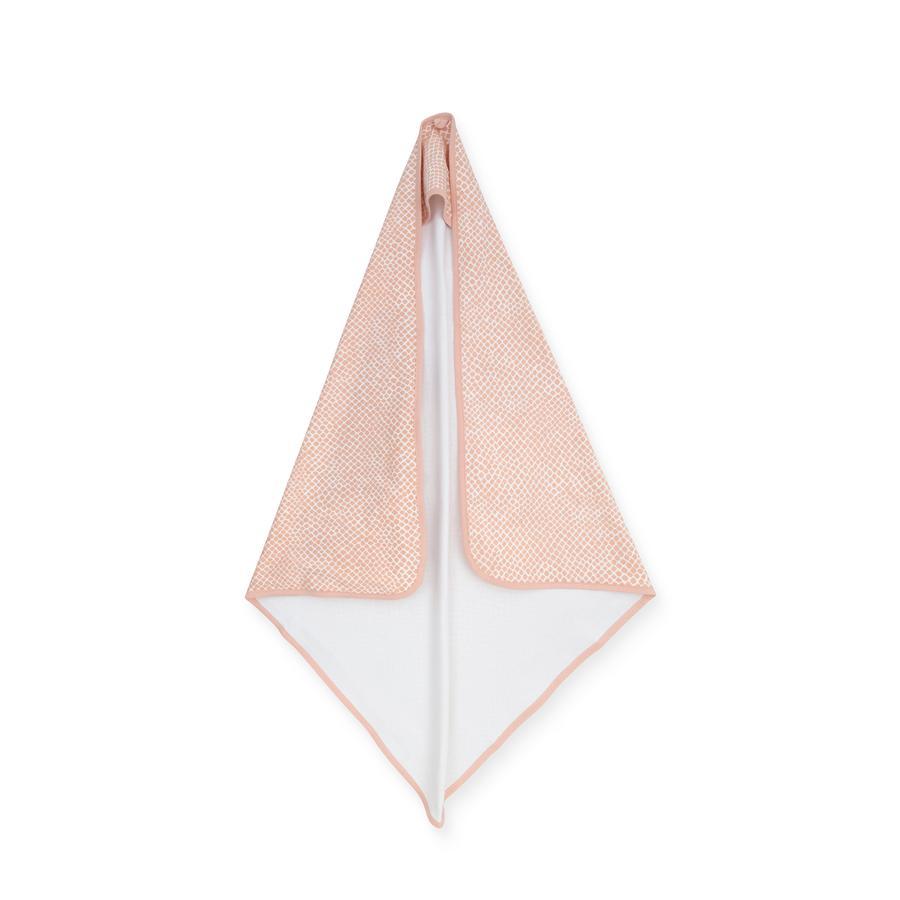 jollein Badhanddoek met kap Slang lichtroze 75 x 75 cm