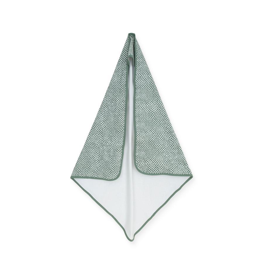 jollein Ręcznik kąpielowy z kapturem Popiół z węża green 75 x 75 cm