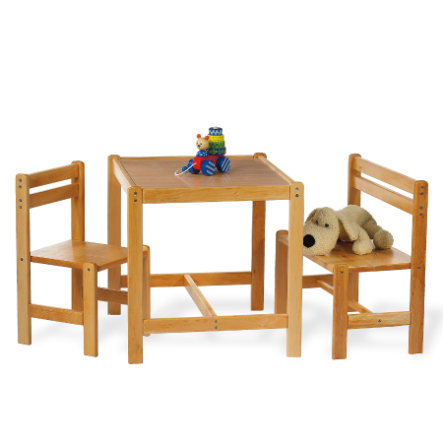 PINOLINO Table, Bench and Chair Sven nature, 3 pcs.