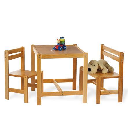 PINOLINO Tavolo con Sedie Sven 3 pezzi naturale
