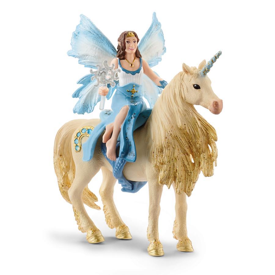Schleich Eyela's Ride on Gold Unicorn 42508