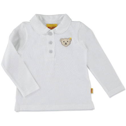 Steiff Girls Poloshirt bright white
