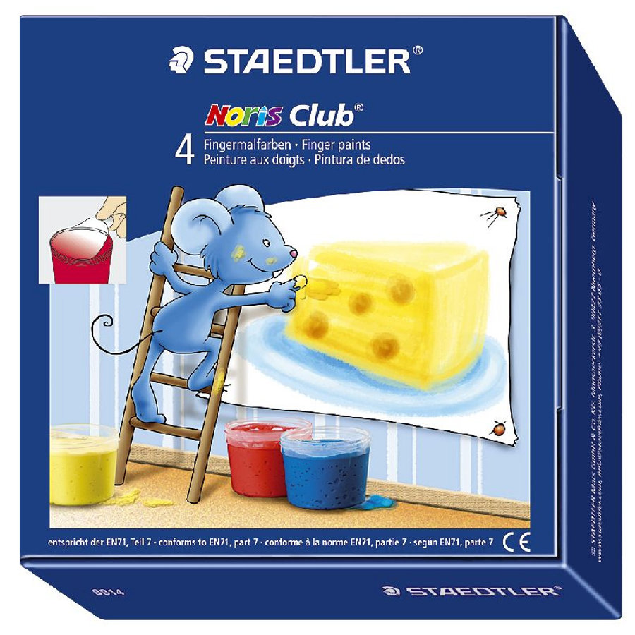 STAEDTLER Noris Club - Fingermalfarben Set 4 Stk.