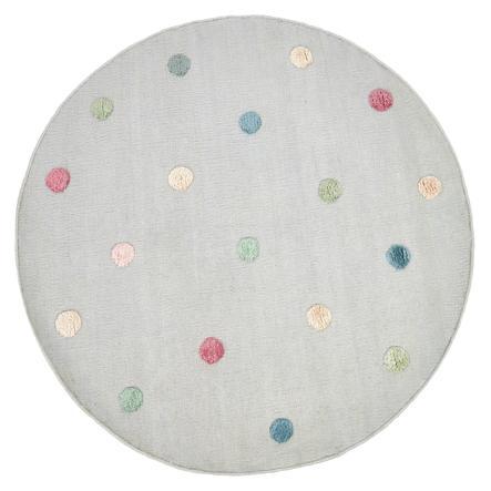 LIVONE Dětský koberec COLOR MOON stříbrná šedá / multi 130 cm kulatý