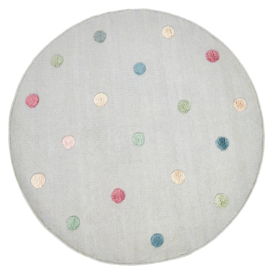 LIVONE Kinderteppich COLORMOON silbergrau/multi 130 cm rund