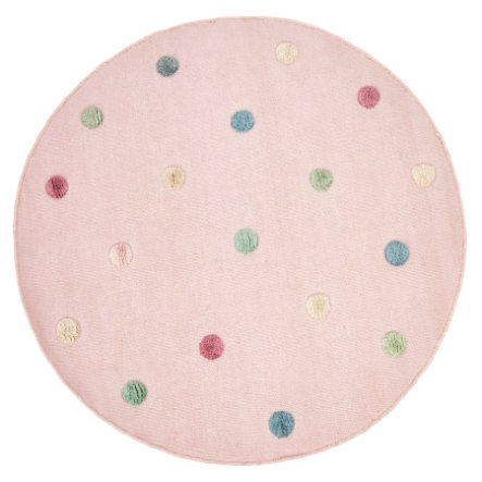 LIVONE Kinderteppich COLORMOON rosa/multi 130 cm rund