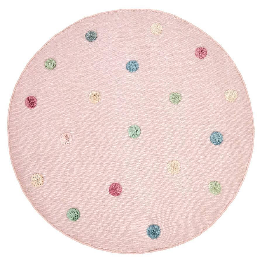 LIVONE Dětský koberec COLOR MOON růžový / multi 130 cm kulatý