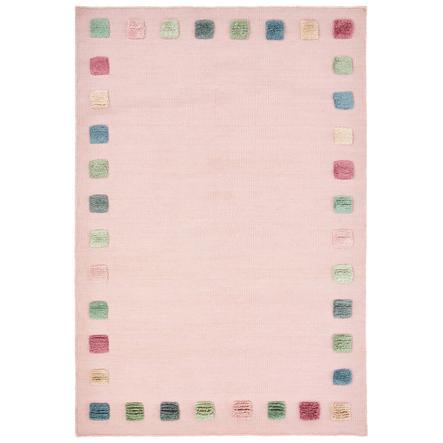 LIVONE Dětský koberec COLOR BORDER růžový / multi 100x160 cm