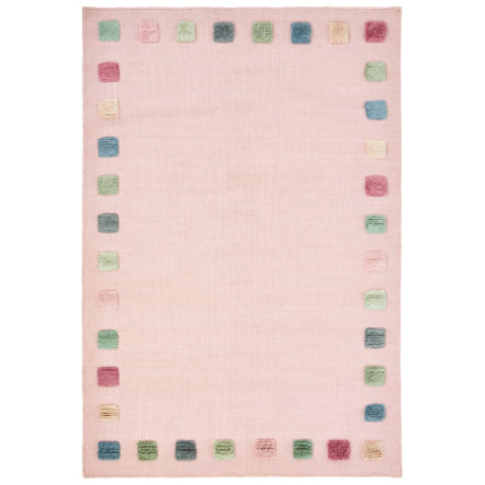 LIVONE Kinderteppich COLORBORDER rosa/multi 100x160 cm