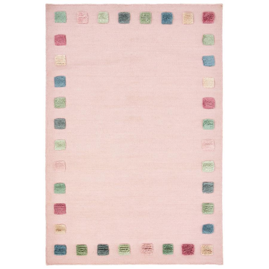 LIVONE kindertapijt COLOR BORDER roze/multi 100x160 cm