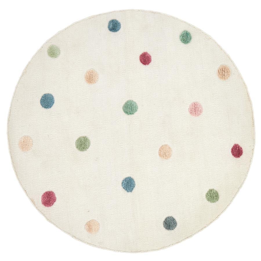 LIVONE Dětský koberec COLOR MOON natur / multi kulatý 130 cm
