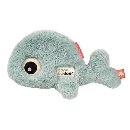 Gjort av Deer ™ Gosedjur Cuddle Friend Whale Wally, blå