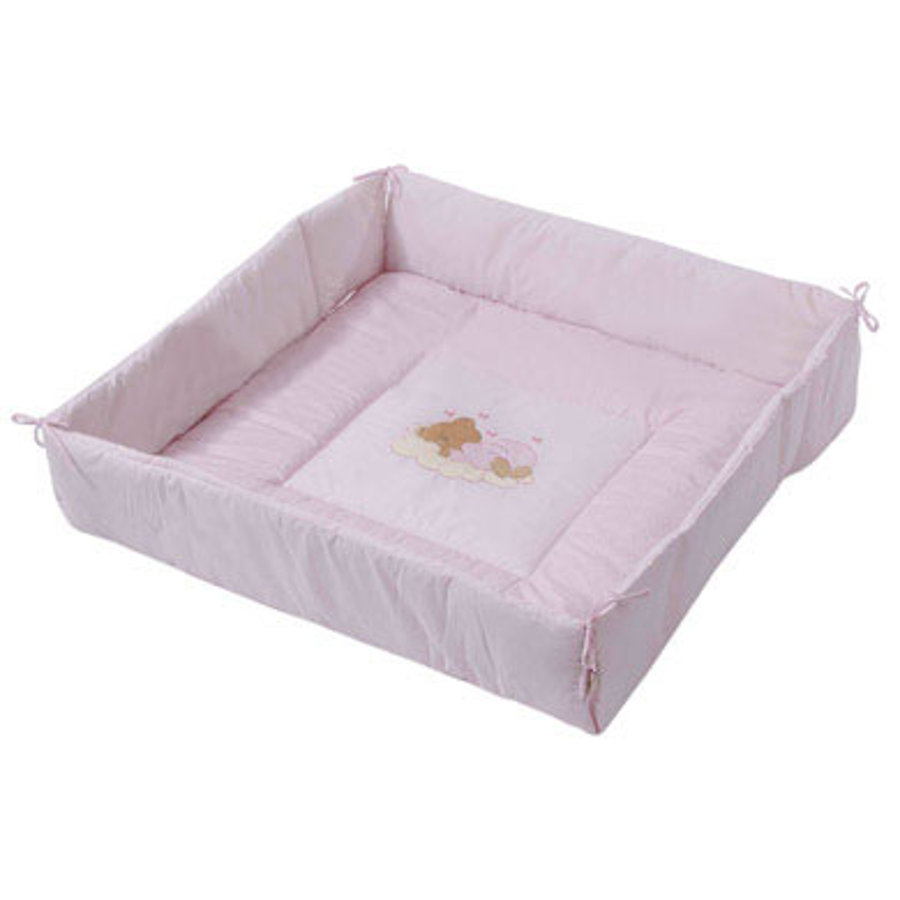 Easy Baby Playpen Liner Sleeping Bear Pink