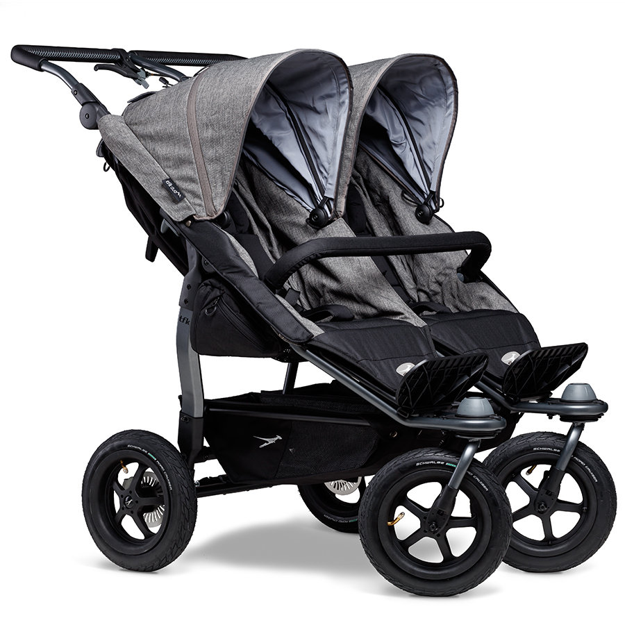 tfk Poussette double Duo Air Premium gris 2020