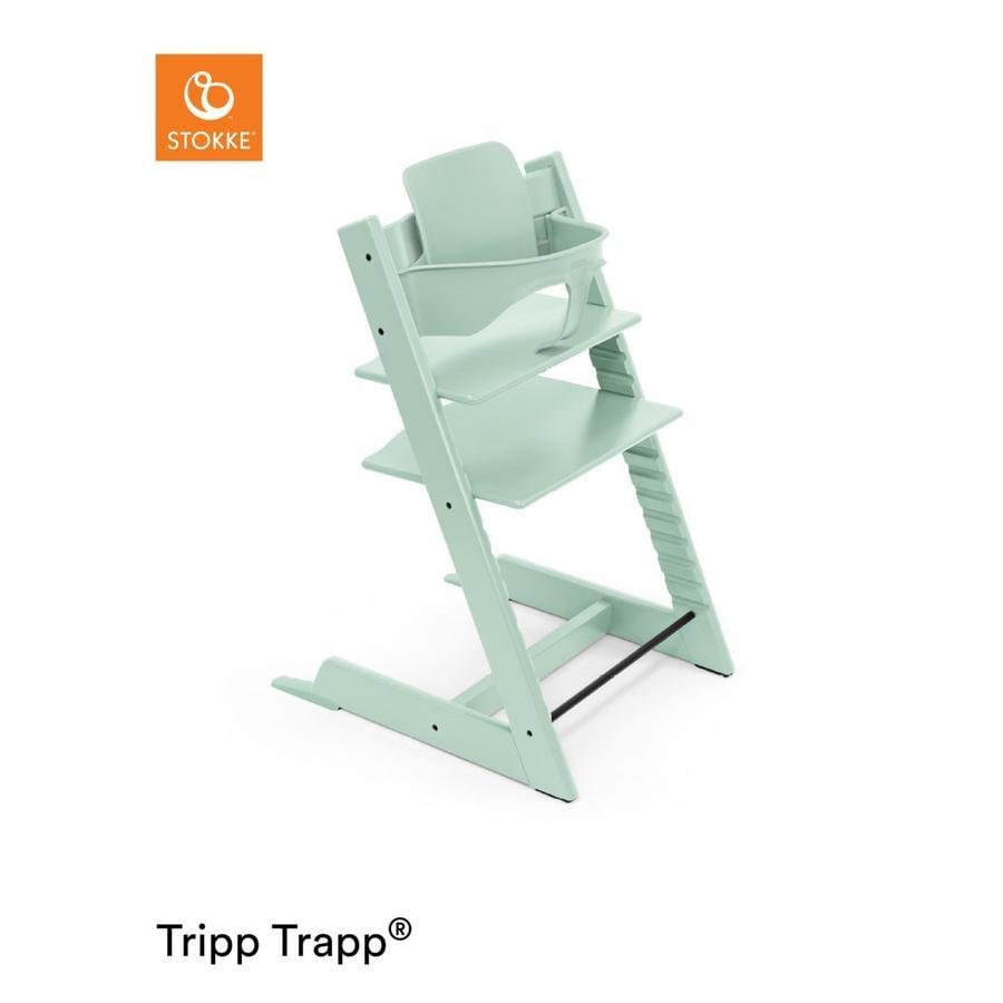 STOKKE® Tripp Trapp® Hochstuhl inkl. Baby Set Buche Soft Mint