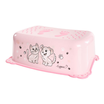 luppee Trittschemel mit rutschfesten Gummis, in rosa