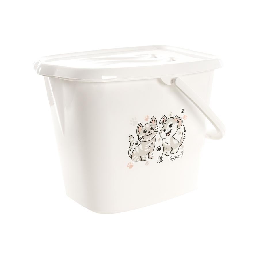 luppee Badespand med håndtag til vand og bleer i hvid