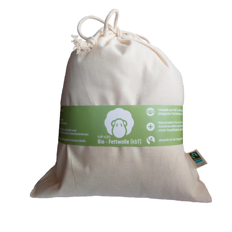 kiinda Fettwolle (kbT) Bio im Baumwollbeutel 100 g