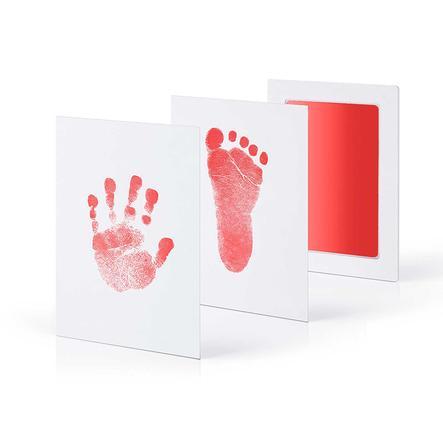 kiinda Hand- und Fußabdruckset CleanTouch, in rot