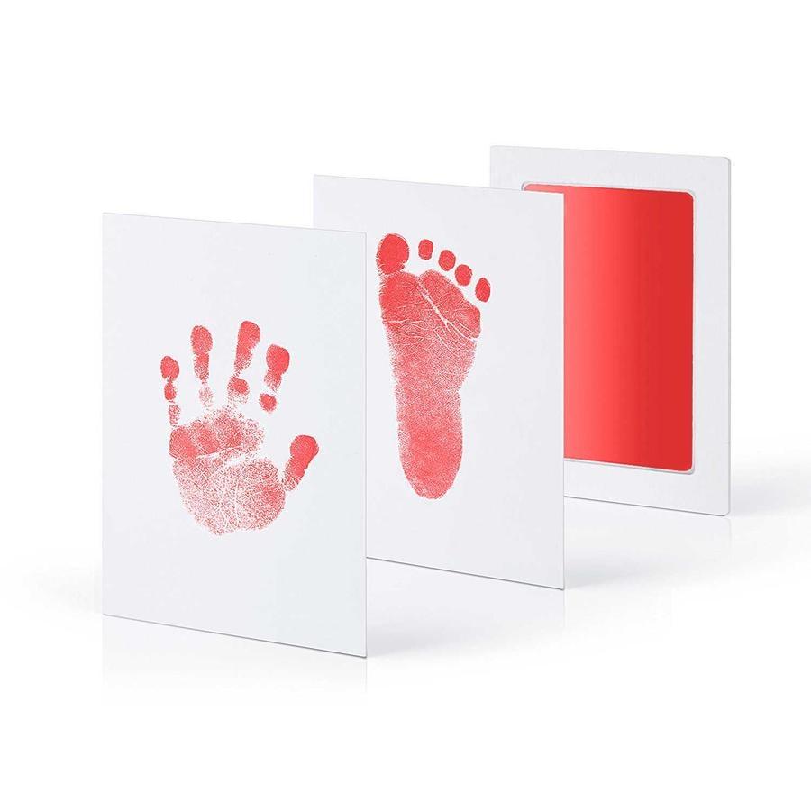 kiinda Odcisk stópek i rączek dziecka - zestaw , w kolorze czerwonym