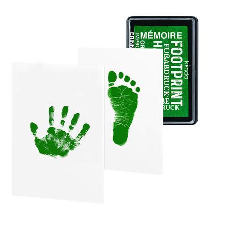 kiinda Stempelkissen Baby Hand- und Fusabdruck, in grün
