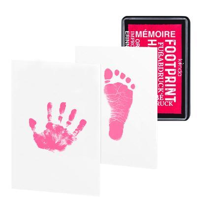 kiinda Stempelkissen Baby Hand- und Fußabdruck, in hot pink