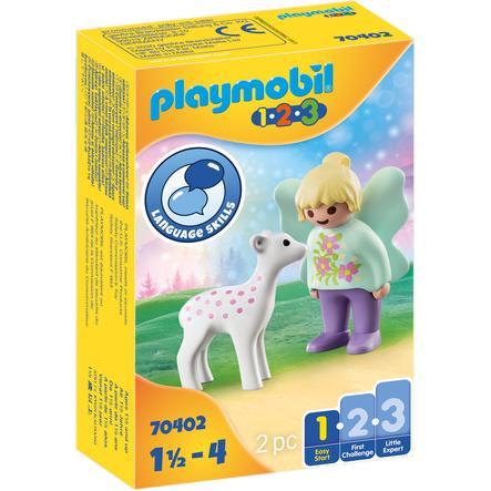 PLAYMOBIL  ® 1 2 3 Carroza del Unicornio con cervatillo