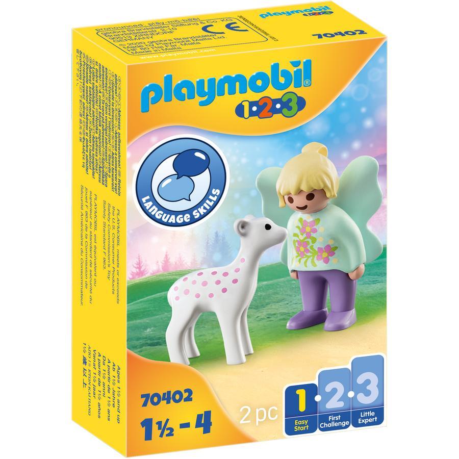 PLAYMOBIL  ® 1 2 3 Wózek jednorożca z płodem