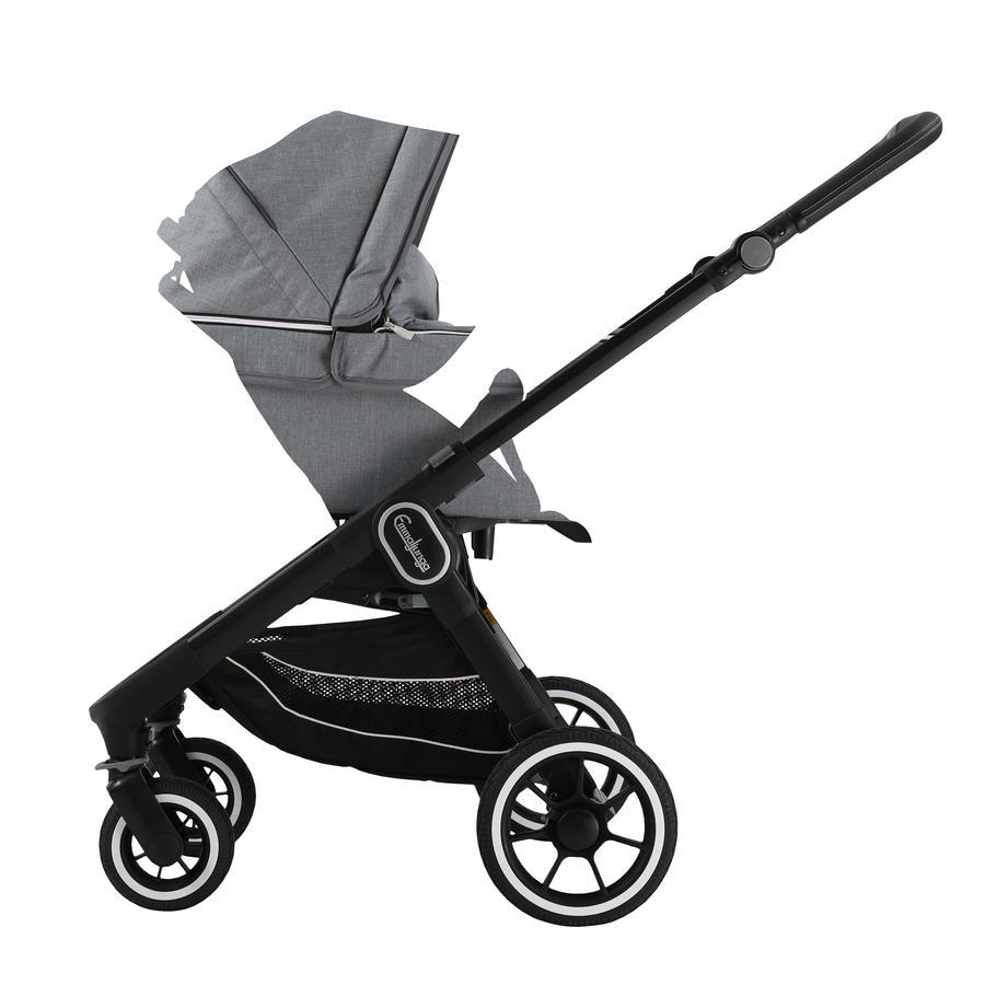 Emmaljunga Kinderwagen NXT60 mit Wanne Black/Lounge Grey