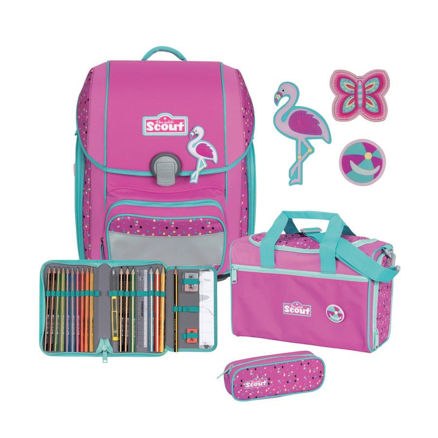Scout Genius -Set 4pcs. Funny Snaps Flamingo