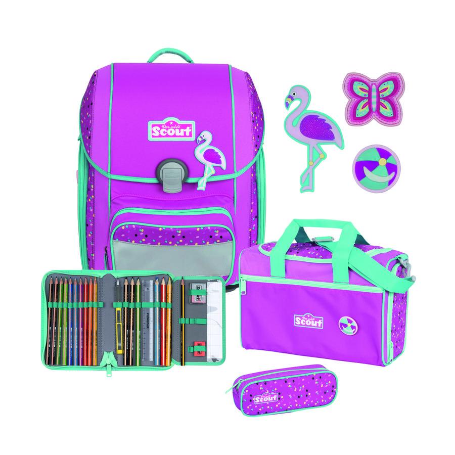 Scout Genius -Set 4szt. Funny Snaps Flamingo
