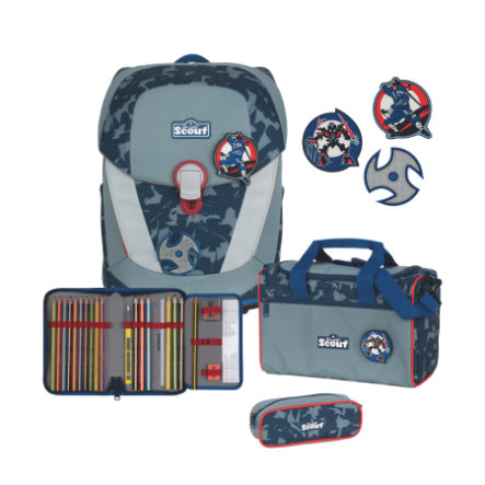 Scout Zonnig II Set 4pcs Funny Snaps Blauw Ninja