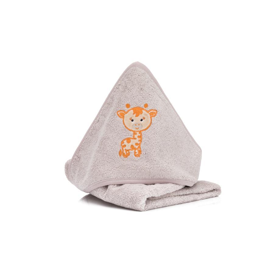 fillikid Organisk hettehåndkle med hette steingrå 75 x 75 cm