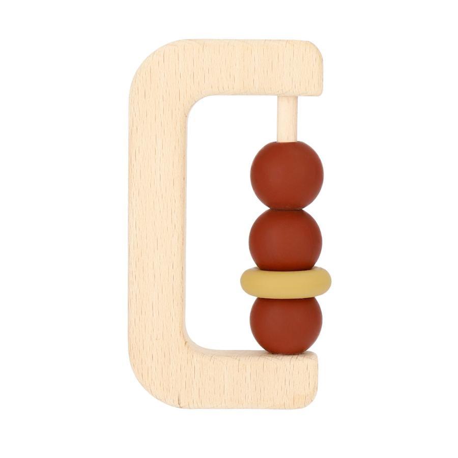 bieco Beißring Holz/Silikon