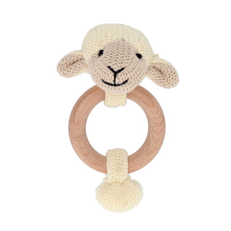 bieco Hochet anneau mouton/ours bois
