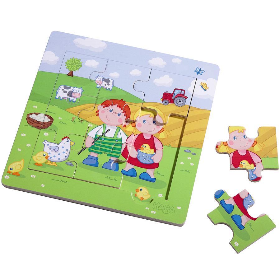 HABA Puzzle con marco de madera Pablo y María 5579 | rosaoazul.es
