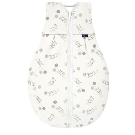 Alvi® Jersey Ganzjahresschlafsack Thermo Hippo silber