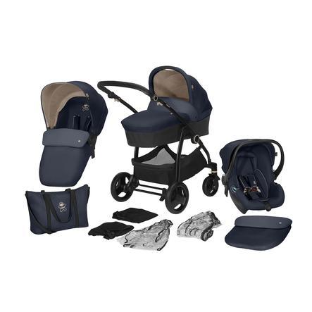 cbx Kombikinderwagen Leotie Pure mit Babyschale Shima One Box Jeansy Blue by cybex