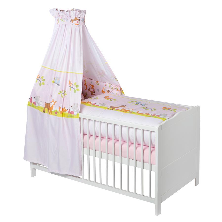julius z llner bettset 3 tlg waldtiere rosa. Black Bedroom Furniture Sets. Home Design Ideas