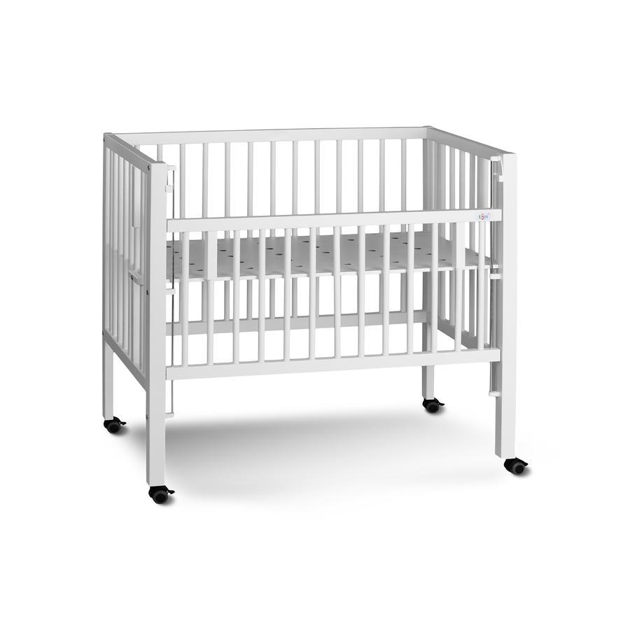 tiSsi® Lettino co-sleeping Maxi Boxspring 50 x 90 cm bianco