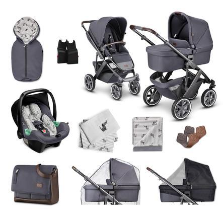 ABC DESIGN  Carro de bebé Combi Salsa 4 Air - Starter Set 13 piezas Stone Fashion Edition