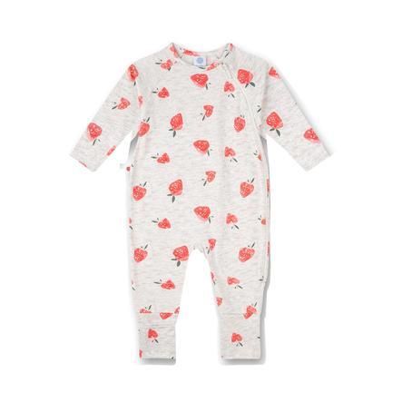 Sanetta Overall lys grå med jordbær