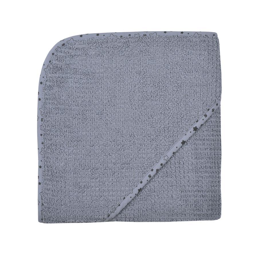 WÖRNER SÜDFROTTIER Cape de bain enfant At home gris foncé 80x80 cm