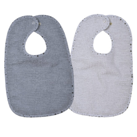 WÖRNER SÜDFROTTIER Bavoir enfant At Home gris lot de 2
