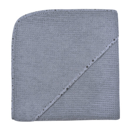 WÖRNER SÜDFROTTIER Toalla de baño con capucha en casa gris oscuro 100 x 100 cm