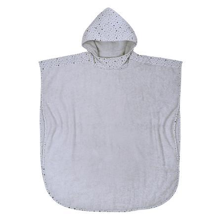 WÖRNER SÜDFROTTIER Poncho de baño de estrellas gris claro 80 x 75 cm