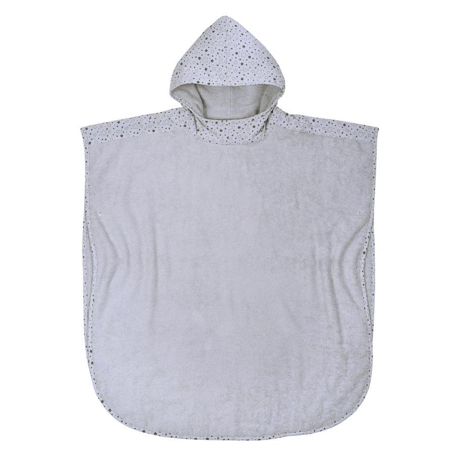 WÖRNER SÜDFROTTIER Poncho de bain enfant étoiles gris clair 80x75 cm