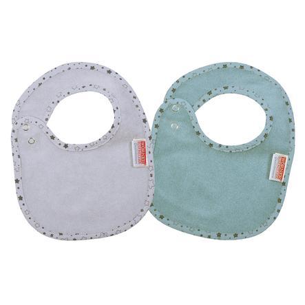 WÖRNER SÜDFROTTIER bouton poussoir flatz étoiles bleu glace set de 2 22 x 29 cm