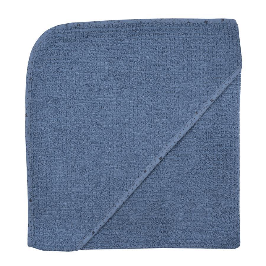 WÖRNER SÜDFROTTIER Cape de bain enfant At home bleu foncé 100x100 cm