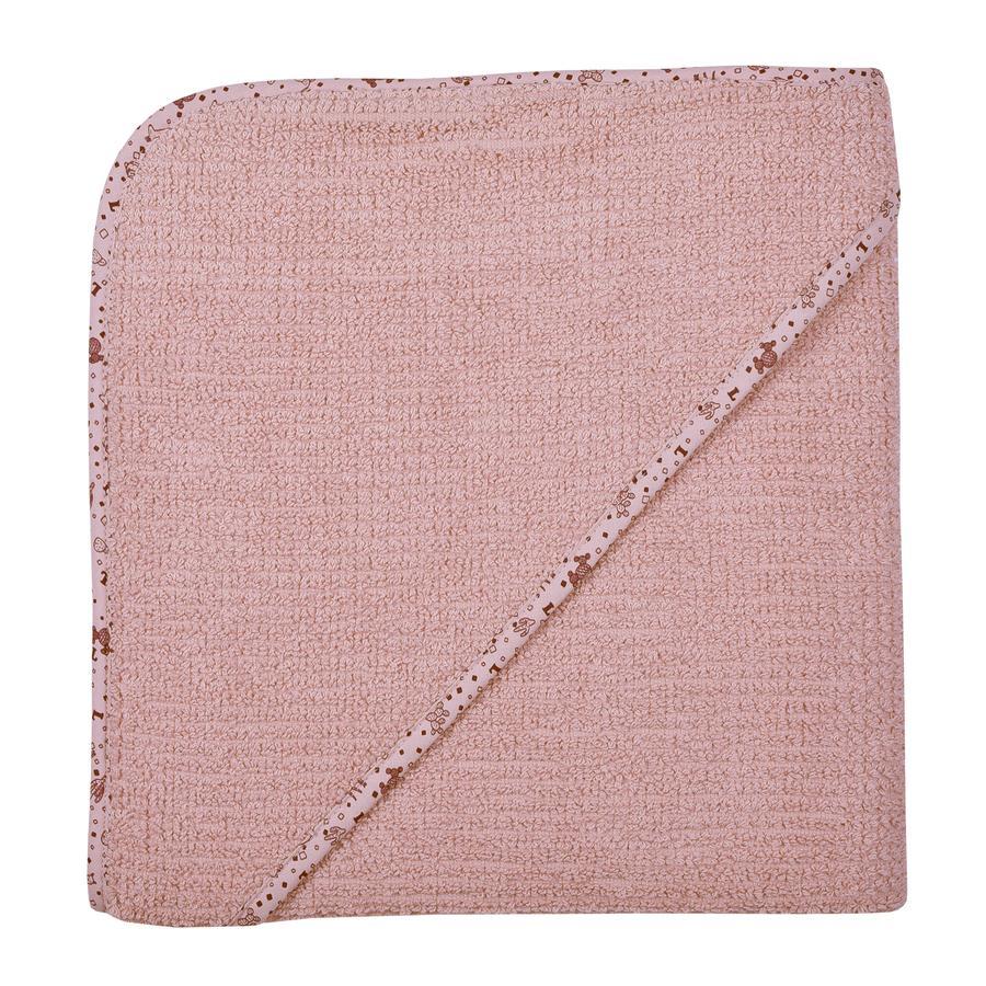 WÖRNER SÜDFROTTIER Thuis Kapted badhanddoek oud roze 100 x 100 cm